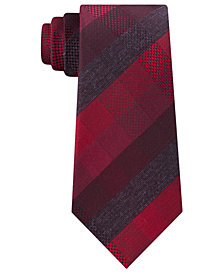 Kenneth Cole Reaction Men's Modern Plaid Slim Tie