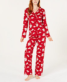 Charter Club Cotton Button Front Pajama Set, Created for Macy's