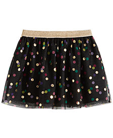 Epic Threads Little Girls Dot-Print Tulle Skirt, Created for Macy's