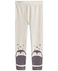 Epic Threads Little Girls Fleece-Lined Penguin Sweater Leggings, Created for Macy's