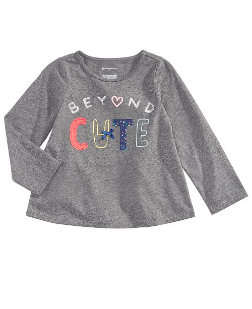 005cac0d52838 First Impressions Baby Girls Beyond Cute Graphic T-Shirt, Created for Macy's
