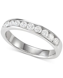 Diamond Channel-Set Band (5/8 ct. t.w.) in 18k White Gold
