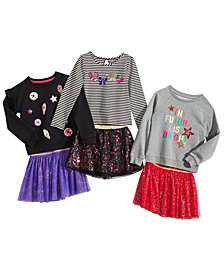 Epic Threads Little Girls T-shirts and Skirt Separates, created for Macy's