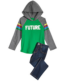 Epic Threads Little Boys Graphic-Print Hoodie & Slim-Fit Jeans Separates, Created for Macy's