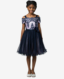 Bonnie Jean Big Girls Scalloped Neckline Dress