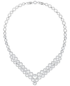 "Swarovski Silver-Tone Crystal 14-7/8"" Statement Necklace"