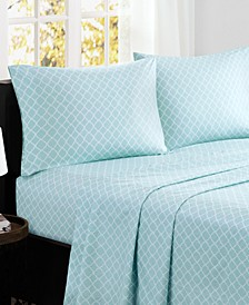 Fretwork 4-PC Queen Cotton Sheet Set