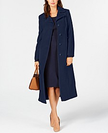 Petite Single-Breasted Maxi Coat