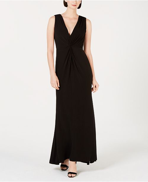 Calvin Klein Knot-Front Gown
