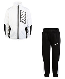Nike Little Boys 2-Pc. Colorblocked Tricot Track Suit Set