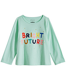 First Impressions Baby Girls Bright Future Graphic Cotton T-Shirt, Created for Macy's