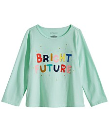 First Impressions Toddler Girls Future-Print Cotton T-Shirt, Created for Macy's