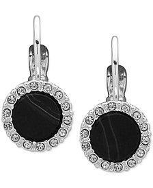 Nine West Silver-Tone Pavé & Stone Drop Earrings