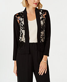 R & M Richards Sequin Bolero Jacket