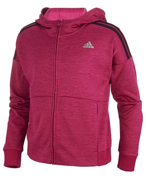 918d9fac216c adidas Big Girls Front-Zip Jacket   Reviews - Coats   Jackets - Kids ...