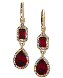Ivanka Trump Pavé & Stone Double Drop Earrings