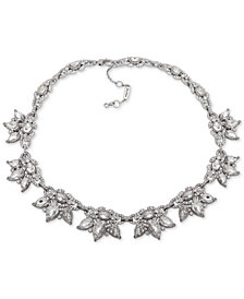"Jenny Packham Silver-Tone Crystal Cluster Collar Necklace, 16"" + 2"" extender"