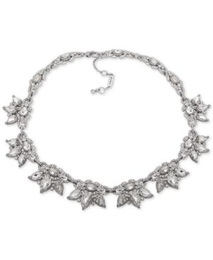 """JENNY PACKHAM Silver-Tone Crystal Cluster Collar Necklace, 16"""" + 2"""" Extender"""