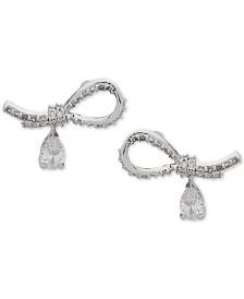 Jenny Packham Stone & Crystal Ribbon Stud Earrings