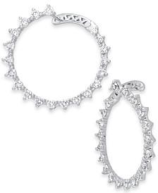 Diamond Front & Back Drop Hoop Earrings (1-1/2 ct. t.w.) in 14k White Gold