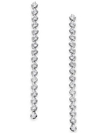 Diamond Linear Drop Earrings (1 ct. t.w.) in 14k White Gold