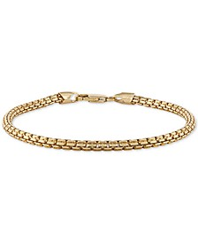 Box Link Chain Bracelet in 14k Gold-Plated Sterling Silver, Created for Macy's