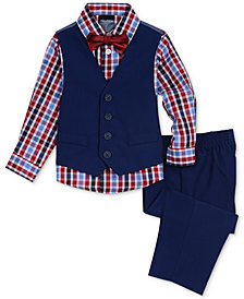 Nautica Baby Boys 4-Pc. Vest, Shirt, Pants & Bow Tie Set