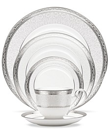 Dinnerware, Odessa Platinum  5 Piece Place Setting