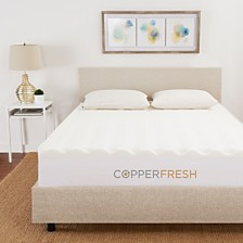 "CopperFresh Twin 2"" Wave Foam Mattress Topper"