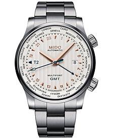 Mido Men's Swiss Automatic Multifort Stainless Steel Bracelet Watch 42mm
