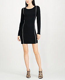 Bar III Zippered Sweater Dress, Created for Macy's