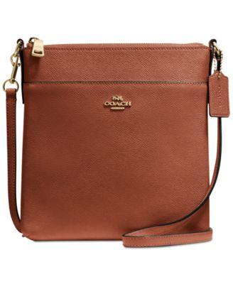 coach messenger crossbody in crossgrain leather handbags rh macys com