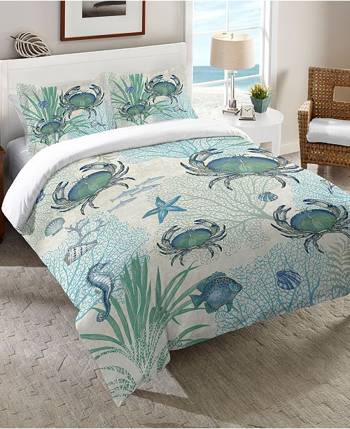 Laural Home Blue Crab Bedding Collection