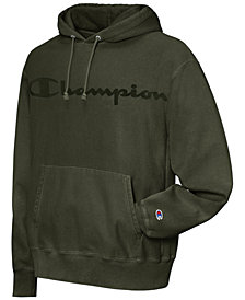 Champion Men's Garment-Dyed Logo Hoodie