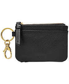 Fossil Aubrey Leather Zip Coin Wallet