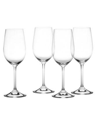 Glassware, Set of 4 Vintage Classic White Wine Glasses
