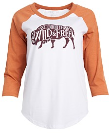 United by Blue Women's Wild & Free Baseball Tee from Eastern Mountain Sports