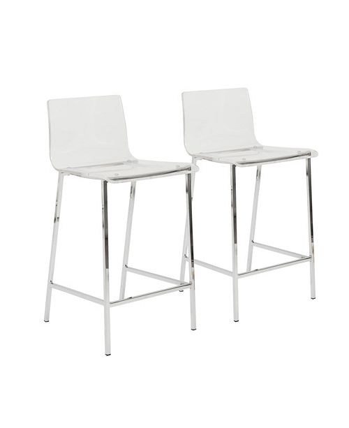 Euro Style Chloe Counter Stool (Set Of 2)