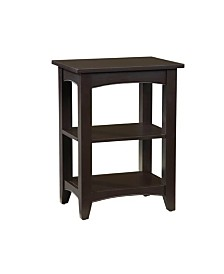 Shaker Cottage 2 Shelf End Table, Chocolate