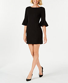 Jessica Howard Petite Bell-Sleeve Dress