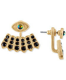 RACHEL Rachel Roy Gold-Tone Crystal Evil Eye Jacket Earrings