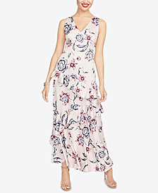 RACHEL Rachel Roy Printed Ruffled Maxi Dress, Created for Macy's