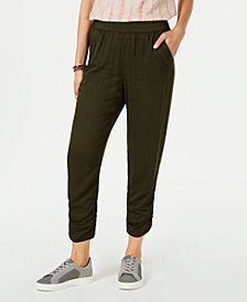 Style & Co Ruched Jogger Pants, Created for Macy's