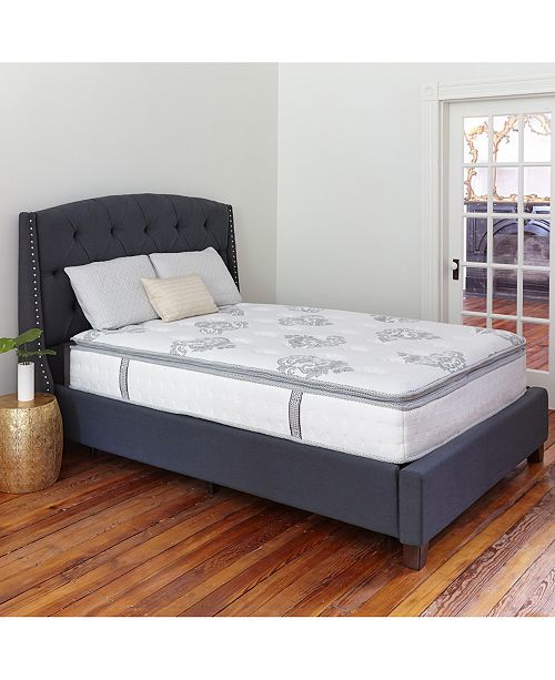 "Sleep Trends Doran Queen 12"" Wrapped Coil Hybrid Pillowtop Mattress"