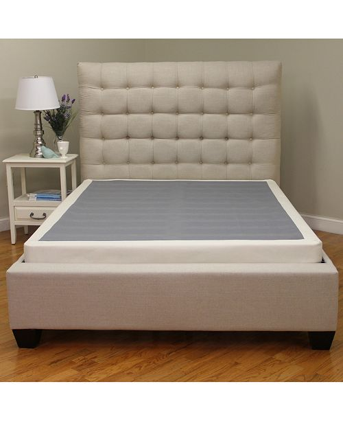 Sleep Trends King 4 Inch Low Profile Mattress Instant Foundation