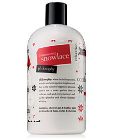 philosophy Shimmering Snowlace Shampoo, Shower Gel & Bubble Bath, 16-oz.