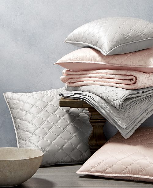 Hotel Collection CLOSEOUT! Silk Quilted Coverlet & Sham Collection, Created for Macy's