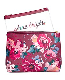 Floral Zip Pouch, Created for Macy's