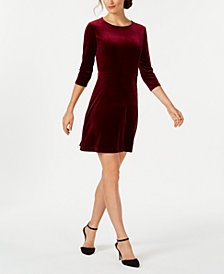 Charter Club Petite Velvet Shift Dress, Created for Macy's