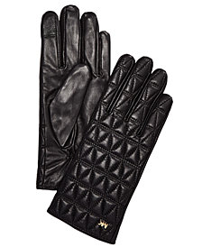 MICHAEL Michael Kors Quilted Leather Gloves